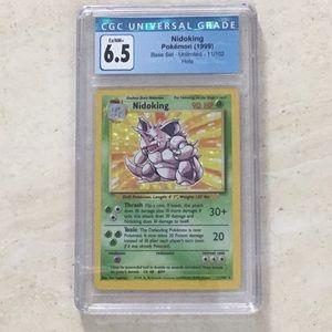 Nidoking Pokémon Holo 11/102 Base Set 1999 CGC 6.5